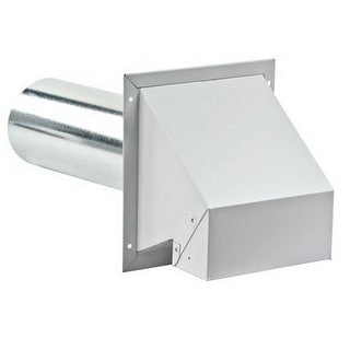 Lambro 370 Galvanized Vent Hood With Damper, 4""