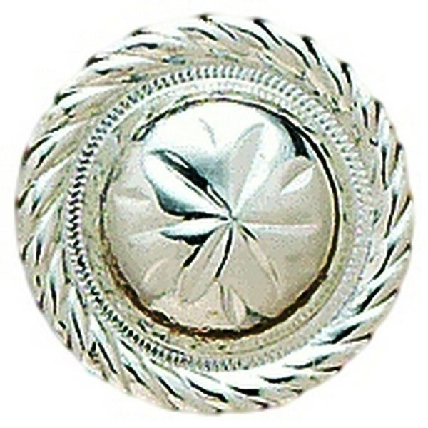 "M&F Western Concho Engraved Round Floral 1 1/2"" Silver - 1 1/2"""