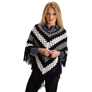 Stetson Western Sweater Womens Stripe OS Black 11-027-0539-0647 BU - One size