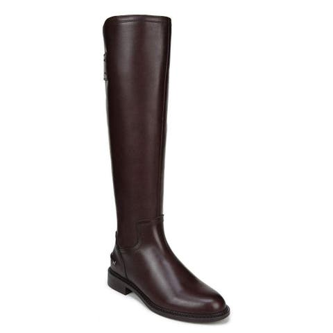 Franco Sarto Womens Henrietta Leather Almond Toe Knee High Fashion Boots