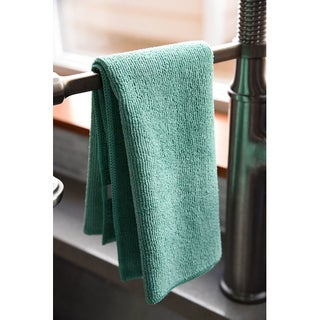 Dri Professional Extra-Thick Microfiber Cleaning Cloth - 16 in x 16 in - 48 Pack (Option: Green)