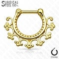 Laced Edge Tribal 316L Surgical Steel Septum Clicker (Sold Ind.) - Thumbnail 3