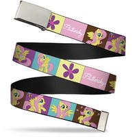 Blank Chrome Buckle Fluttershy Blocks Webbing Web Belt