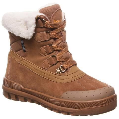 Bearpaw Womens Inka Snow Boots Suede Almond Toe - Hickory 2 - 6 Medium (B,M)