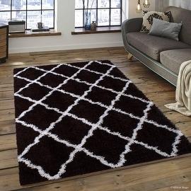 "Allstar Chocolate Dense High Pile Posh Shaggy Area Rugs, Soft, Comfortable, Modern & Contemporary (5' 0"" x 7' 0"")"