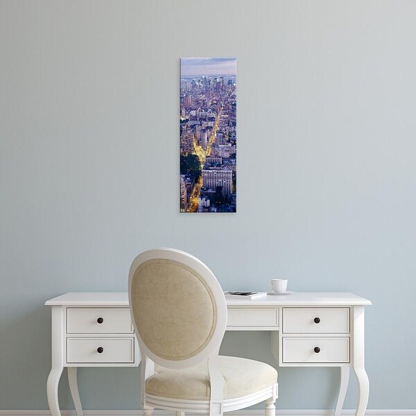Easy Art Prints Panoramic Image 'View of buildings in a city, Manhattan, New York City, New York, USA' Canvas Art