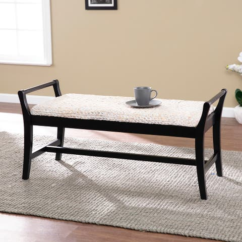 Harper Blvd Kellington Coastal Natural Woven Fiber Bench