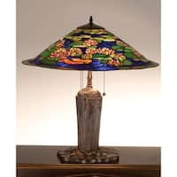 Meyda Tiffany 32300 Stained Glass / Tiffany Table Lamp from the Pond Lily Collection