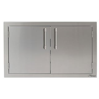 "Alfresco AXE-42 42"" Wide Double Access Doors - STAINLESS STEEL - N/A"