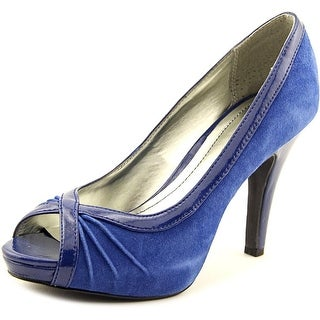 Style & Co Spicey Women Open-Toe Suede Blue Heels