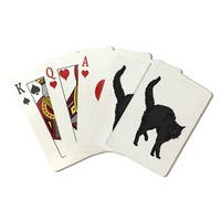 Black Cat - Icon - Lantern Press Artwork (Poker Playing Cards Deck)