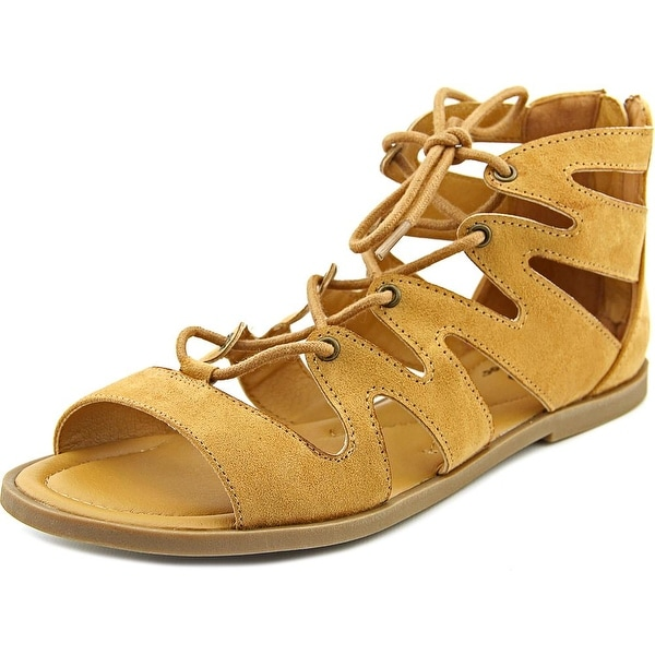 Rocket Dog Artesia Women Open Toe Canvas Tan Gladiator Sandal