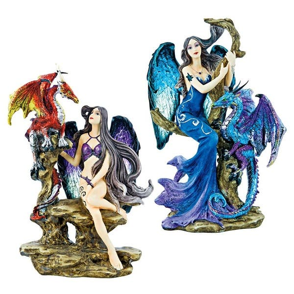 Shop Design Toscano Gothic Temptress Statues Set Of Two Overstock 22719809