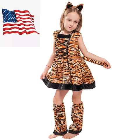 Eraspooky Kids striped Tiger Costume By Dress Up Outfits