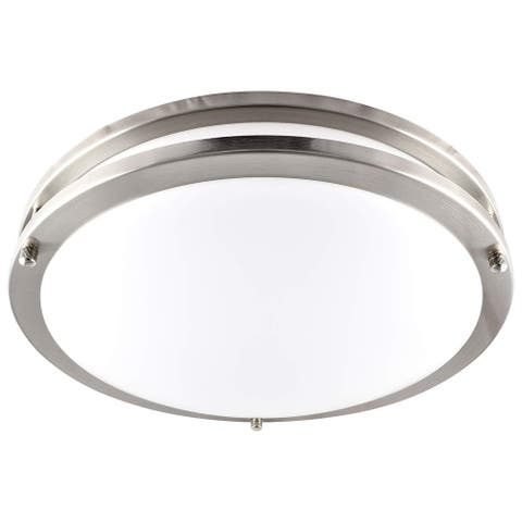 Luxrite LED Flush Mount Ceiling Light, 14 Inch, Dimmable, 1652 Lumens, 22W, Energy Star, Damp Rated
