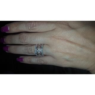 Miadora Two-tone Silver 1/4ct TDW Vintage Diamond Ring