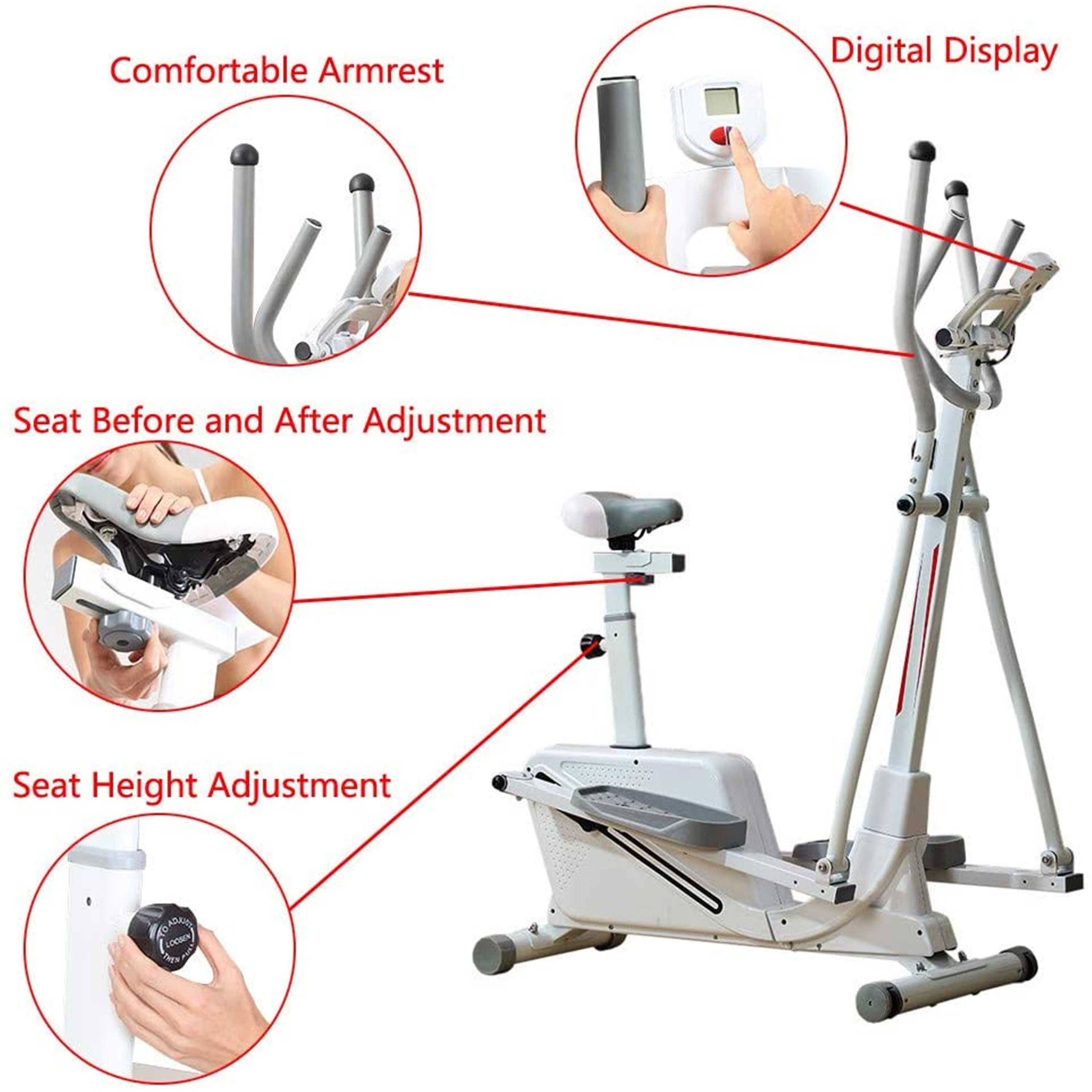 Compact Life Fitness Exercise Equipment for Home Workout Office Gym Infidev Elliptical Machines for Home Use Fitness Magnetic Elliptical Trainer Machine Stepper w//Digital Display /& Tablet Holder