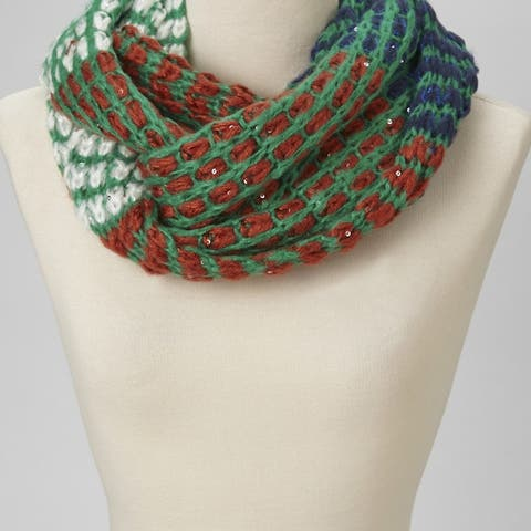 Women Multicolor Knit Infinity Casual Soft Lightweight Scarf Cable Thick Cowl Winter Warm Cozy