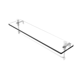 Allied Brass Foxtrot Glass Vanity Shelf with Integrated Towel Bar