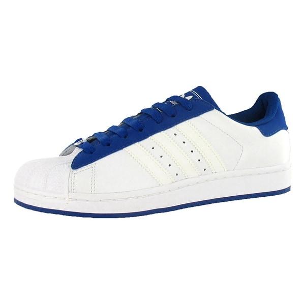 Adidas Superstar Ii Mens Shoe White/blue Sz