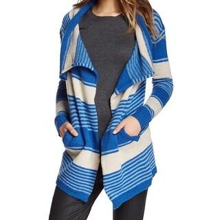 Love Stitch NEW Blue Women's Size Small S Cardigan Striped Flyaway Sweater
