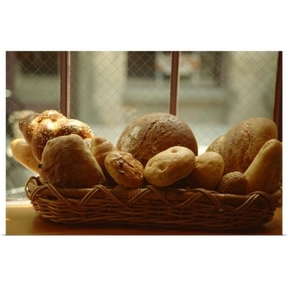 """Breadbasket in window"" Poster Print"