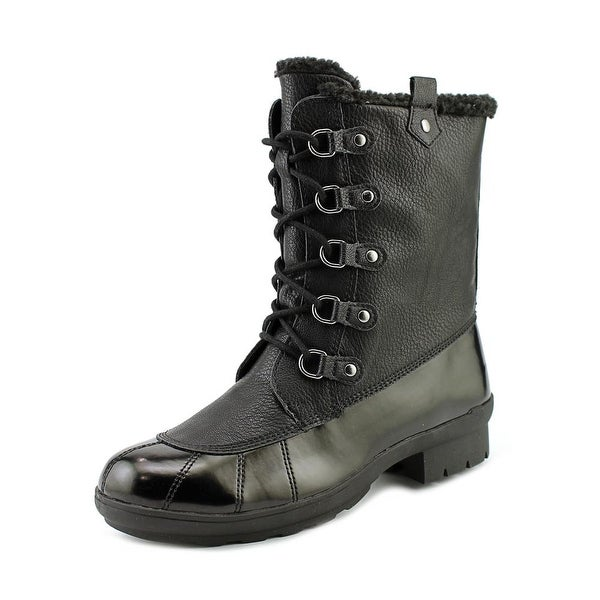 A2 By Aerosoles Barricade Women Round Toe Synthetic Black Winter Boot