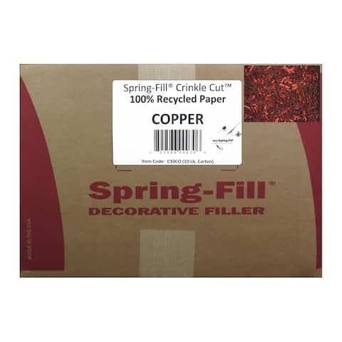 2696-10pound cindus krinkle shred box 10lb cinnamon copper