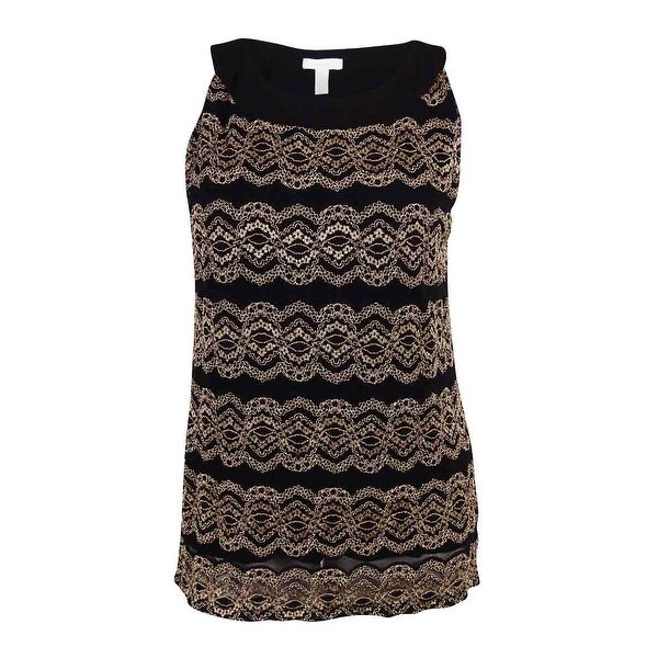8e9928fb98 Shop Charter Club Women s Sleeveless Lace Top - Deep Black - XL - Free  Shipping On Orders Over  45 - Overstock.com - 15876816