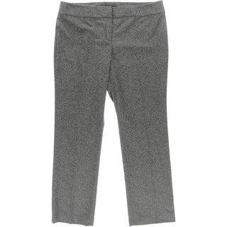Nine West Womens Marled Contour Waistband Trouser Pants - 16