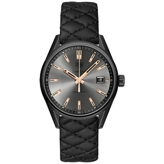 Link to Tag Heuer Women's WAR1113.FC6392 'Carrera' Black Quilted Leather Watch Similar Items in Women's Watches