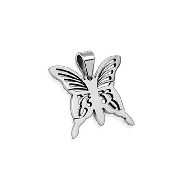 Stainless Steel Pendant Butterfly (30 mm Width)