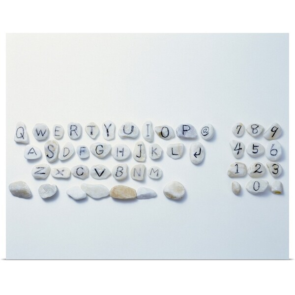 """""""Computer Keyboard Made of Stones"""" Poster Print"""