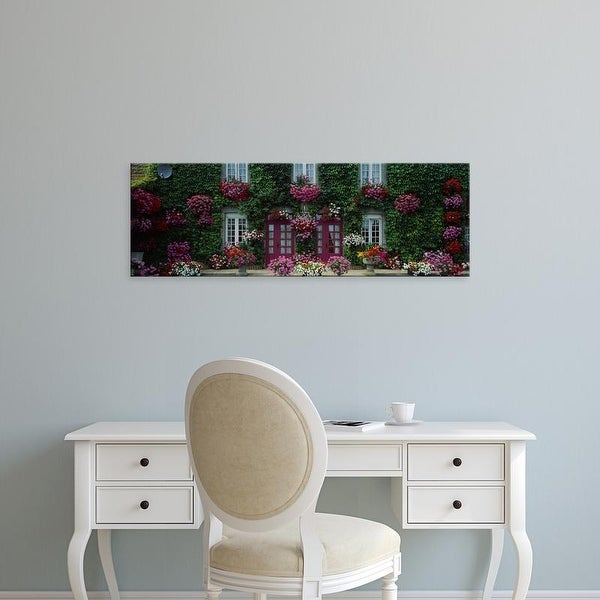 Easy Art Prints Panoramic Images's 'Flowers Breton Home Brittany France' Premium Canvas Art