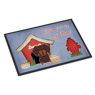 Carolines Treasures BB2885JMAT Dog House Collection Dachshund Chocolate Indoor or Outdoor Mat 24 x 0.25 x 36 in.