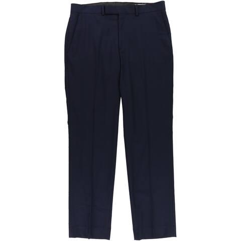 Kenneth Cole Mens Stiped Dress Pants Slacks