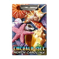 Emerald Isle, North Carolina - Shells - LP Artwork (Acrylic Clipboard)