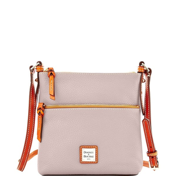 Dooney & Bourke Pebble Grain Letter Carrier (Introduced by Dooney & Bourke at $168 in Apr 2015) - Oyster