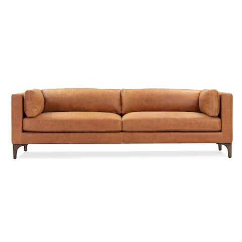 Poly and Bark Argan Sofa in Cognac Tan