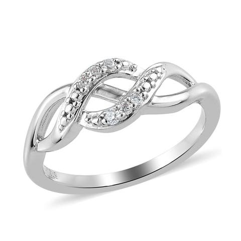 Shop LC Platinum Plated Moissanite Statement Ring Gift Jewelry Size 7