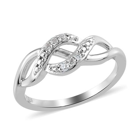 Women Moissanite Statement Ring Platinum Plated Gift Jewelry Size 8