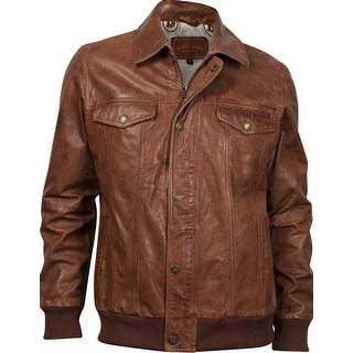 Durango Western Jacket Mens Leather Company Cow Puncher Brown DLC0011