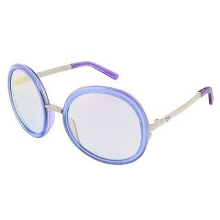 Diesel DL0069/S 83Z Lavender Round sunglasses