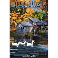 Blue Ridge Parkway, VA - Mabry Mill - LP Artwork (100% Cotton Towel Absorbent)