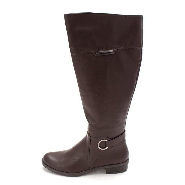 Alfani Womens Jadah Wide Calf Closed Toe Mid-Calf Riding Boots