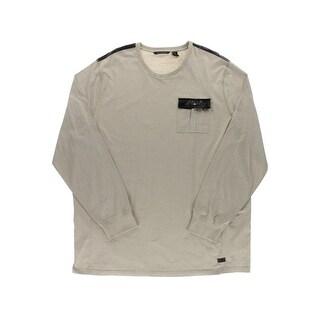 Sean John Mens Big & Tall Casual Shirt Heathered Contrast Trim