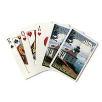 San Juan Island WA Lime Kiln Lighthouse LP Artwork (Poker Playing Cards Deck)