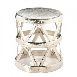 Hammered Drum Decorative Stool