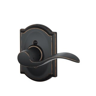 Schlage F170 ACC RH 716 CAM Camelot Accent Right Hand Dummy Lever, Aged Bronze