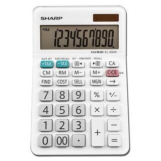 Sharp EL-330WB Professional Desktop Calculator with 10-Digit LCD Display, Large